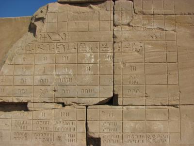 altägyptische Zahlen, Ausschnitt